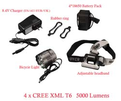 Велофонарь BORUIT CREE XM-L 4T6 bike light LED