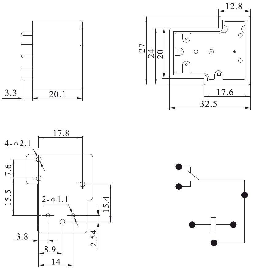 Аналог реле серий CMP7-S,
