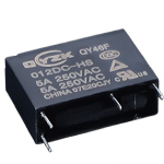 Реле QY46F-005-HS 5A 1A coil 5VDC
